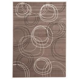 Modern Swirls Rectangular Floor Rug Grey