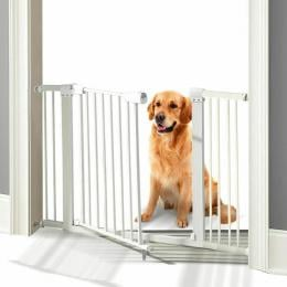 Baby Safety Security Gate Stair Barrier Doors Extension Panels 30cm WH