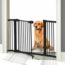 Baby Safety Security Gate Stair Barrier Doors Extension Panels 45cm BK