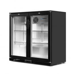 Bar Fridge 2 Glass Door Commercial Display Freeer Drink Cooler