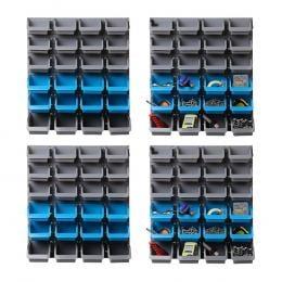 96 Storage Bin Rack Wall-Mounted Tool Parts Garage Shelving Organiser