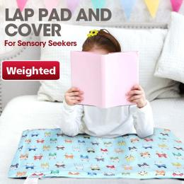 Blue Weighted Cotton Lap Pad