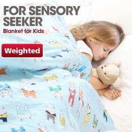 Blue Kids Weighted Printed Blanket