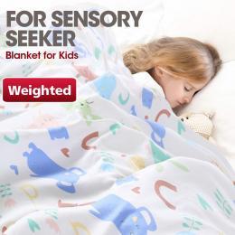 Pink Kids Weighted Printed Blanket