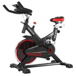 PowerTrain RX-200 Exercise Spin Bike Cardio Cycle - Red