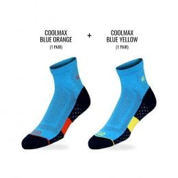Tego Socks Quarter All Day Performance 2 Pack - Blue  Oy