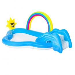 Swimming Pool Rainbow Slide Play Above Ground Kids Inflatable Pools