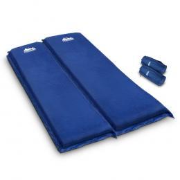 Self Inflating Mattress Camping Sleeping Mat Air Bed Pad Double Navy