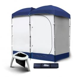 Double Camping Shower Tent Portable Toilet Outdoor Change Room Ensuite