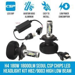 Cosmoblaze H4 180w 18000lm Seoul Csp Chips Led Headlight Kit Elinz