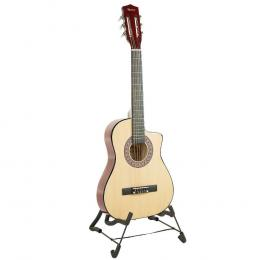 Karrera 38in Pro Cutaway Acoustic Guitar with guitar bag - Natural