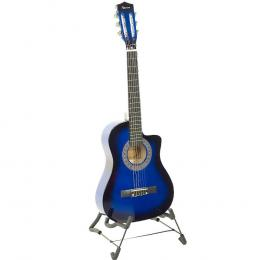 Karrera 38in Pro Cutaway Acoustic Guitar with Bag Strings - Blue Burst