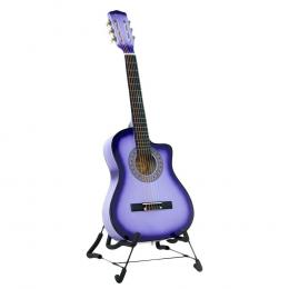 Karrera 38in Pro Cutaway Acoustic Guitar with guitar bag - Purple Burst