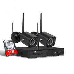 UL-tech CCTV Wireless Security Camera System 4CH Home Outdoor WIFI