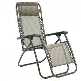 Zero Gravity Reclining Deck Chair - Grey