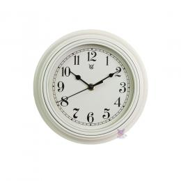 9in Ripple Frame Plastic Wall Clock - White