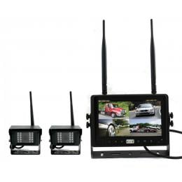 Digital Wireless 7In Quad Monitor Splitscreen Ccd Reversing 2x Camera