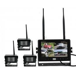 Digital Wireless 7In Quad Monitor Splitscreen Ccd Reversing 3x Camera