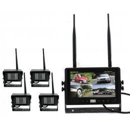 Digital Wireless 7In Quad Monitor Splitscreen Ccd Reversing 4x Camera