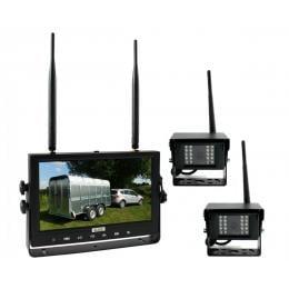 Elinz Digital Wireless 9In Quad Splitscreen Monitor Dvr Reversing