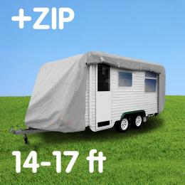 Caravan cover with zIp: 14-17 ft