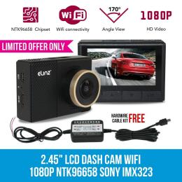 Elinz 2.45 Inch Lcd Dash Cam Camera Video Car Recorder Wifi 1080p