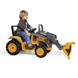John Deere 12v Construction Loader Working Front Electric Kids Ride-On