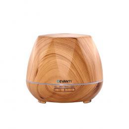 Ultrasonic Aroma Diffuser Oil LED Air Humidifier 400ml Light Wood