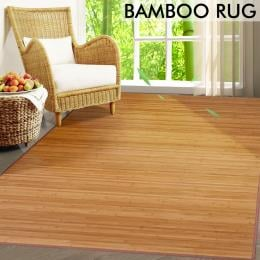 2 Pcs Indoor And Outdoor Natural Bamboo Floor Mat