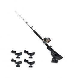 4 X Fishing Rod Holder Adjustable Side Tackle Mount Rack
