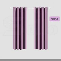 1 Pc 180x230 cm Blockout Curtains with 3 Layers in Purple Colour