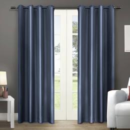 Single Panel Blockout Curtains Panels Bluish Grey 180x230cm