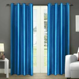 2 Pcs 140x230 cm Blockout Curtains with 3 Layers in Navy Colour