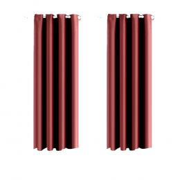 2x Blockout Curtains Panels 3 Layers Eyelet Room Darkening 140x230cm