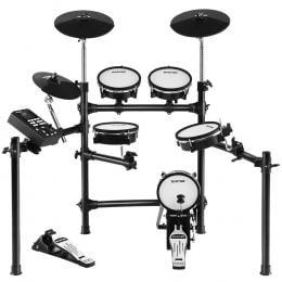 8 Piece Electric  Drum Kit Mesh Drums Set Pad Tom Midi For Kids Adults