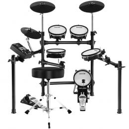 8 Piece Electric Electronic Drum Kit Mesh Drums Set For Kids Adults
