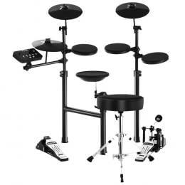 8 Piece Electric Electronic Drum Kit Drums Set   Kids Adults Foldable