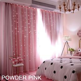 Star Blockout Curtain Panels 2 Layer Eyelet Room Darken Pure Fabric