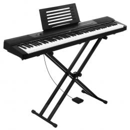 Alpha 88 Keys Electronic Piano Keyboard Electric Holder Music Stand