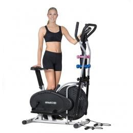 Powertrain 5-in-1 Elliptical Cross Trainer Bike with Dumbbells