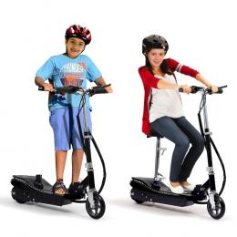 Electric Scooter Led Portable Commuter Adult Kids E-bike Black
