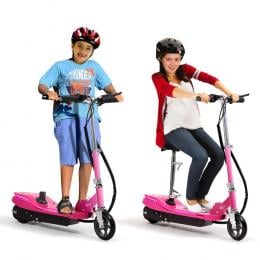 Electric Scooter Led Portable Commuter Adult Kids E-bike Pink