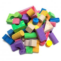 Jolly Kidz Play Blocks Assorted Foam Shapes 50 pc