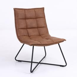 Faux Leather Dinning Lounge Cafe Chair Brown