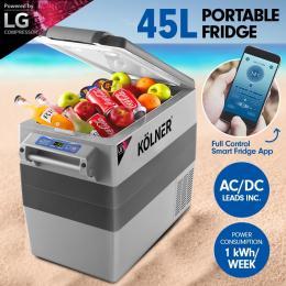 Kolner 45L Portable Fridge Cooler Freezer Camping with LG Compressor