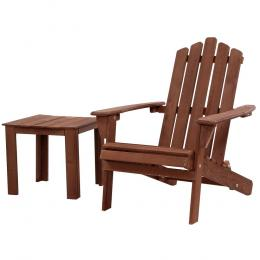 Outdoor Folding Beach Camping Chairs Table Wooden Adirondack Lounge