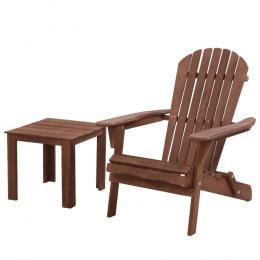 Outdoor Beach Camping Chairs Table Set Wooden Adirondack Lounge