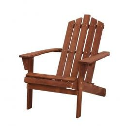Outdoor Sun Lounge Beach Chairs Table Setting Wooden Adirondack Brown