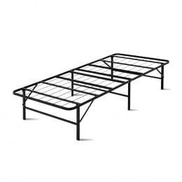 Foldable Single Metal Bed Frame Smart - Black