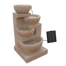Solar Power Four-Tier Water Fountain Feature with LED Light